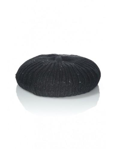 Berretta cilindrica invernale donna nera