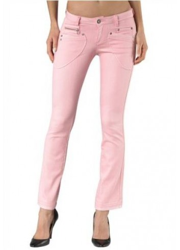 Jeans donna in cotone rosa Arizona