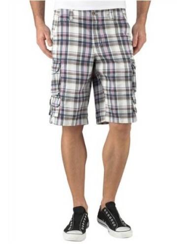 Bermuda Uomo pantaloni corti a quadri con tasconi