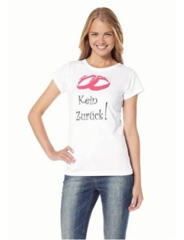 T-shirt donna bianca girocollo in cotone Kein Zuru'