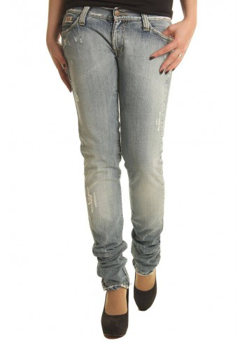 Sexy Woman Jeans Donna denim in cotone vita bassa