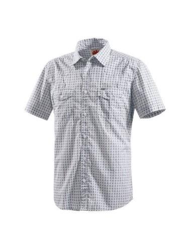 Camicia Uomo Tom Tailor bianca con ricami manica corta