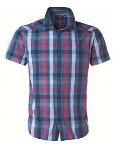 Tom Tailor Camicia uomo a quadri e righe blu
