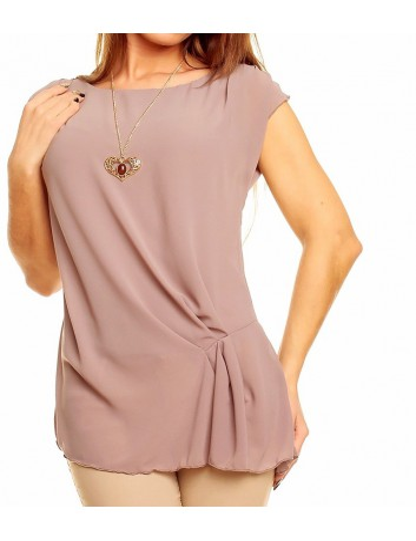 Maglia donna in tessuto fine elegante smanicata made in italy