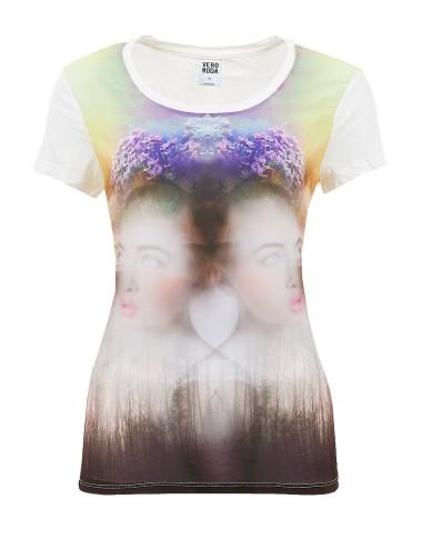 Vero moda T-shirt donna bianca con disegno Galileo