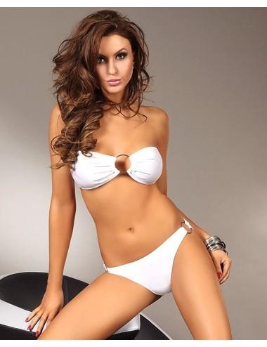 Bikini Costume due pezzi donna bianco Corsetti