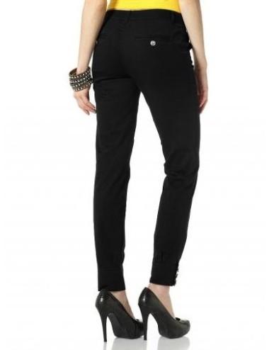 Merlose Pantalone slim donna nero