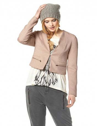 Blazer donna giacca Ichi rosa tasche con gancio