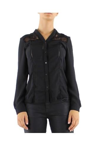 Camicia donna Just nera manica lunga