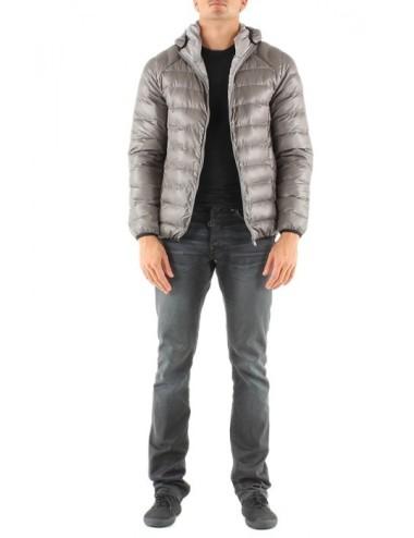 Piumino uomo Tom Wark giacca con cappuccio grigio