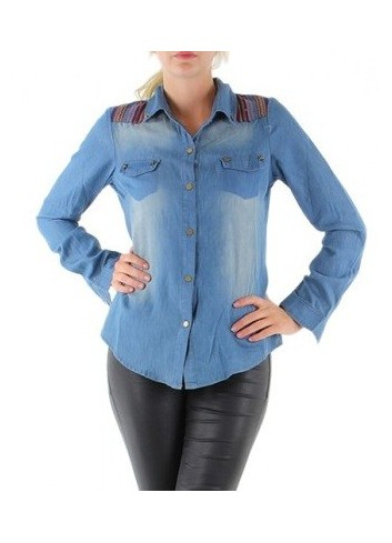 Camicia in jeans donna osley denim cotone