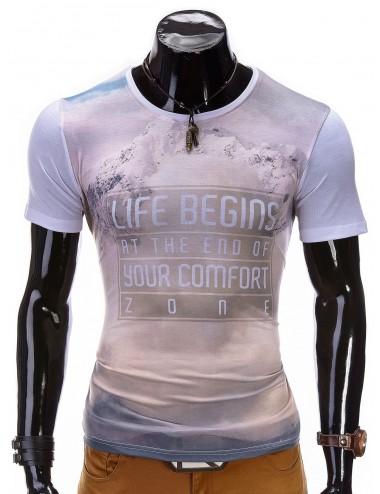 T-shirt uomo disegno mountain Zone misto cotone