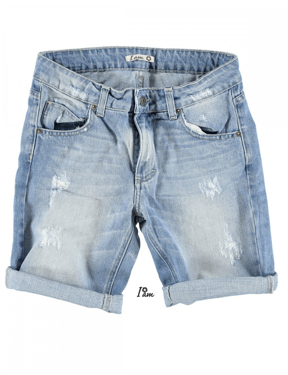 design innovativo 0cf7c 354c1 Bermuda donna jeans I Am pantaloncino corto in cotone denim