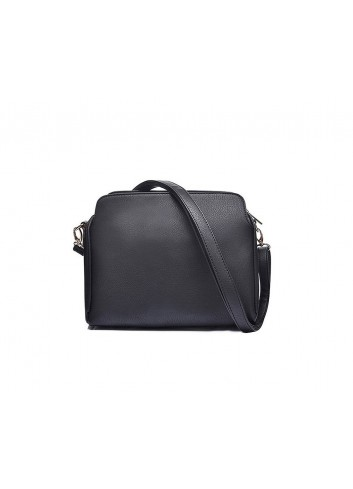 Borsa Tracolla Intrigue nera rigida a bauletto