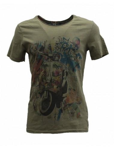 T-shirt uomo Vespa vintage verdone girocollo in cotone