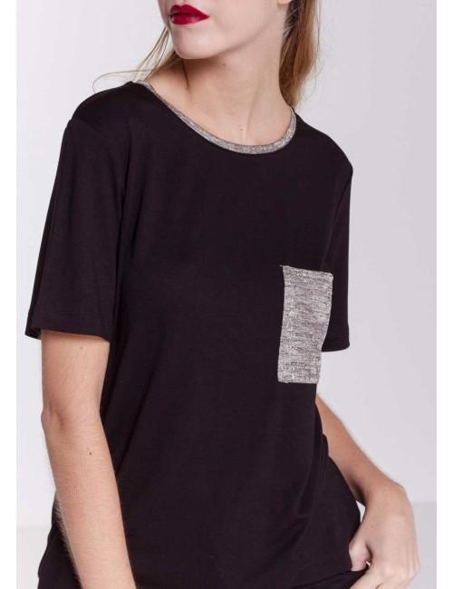 T-shirt Tasca Black
