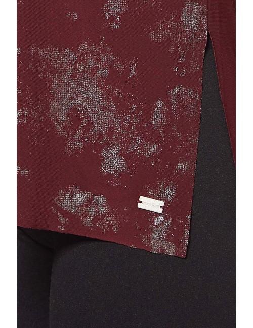 Maglia Donna Laura Scott rossa con stampa metallica