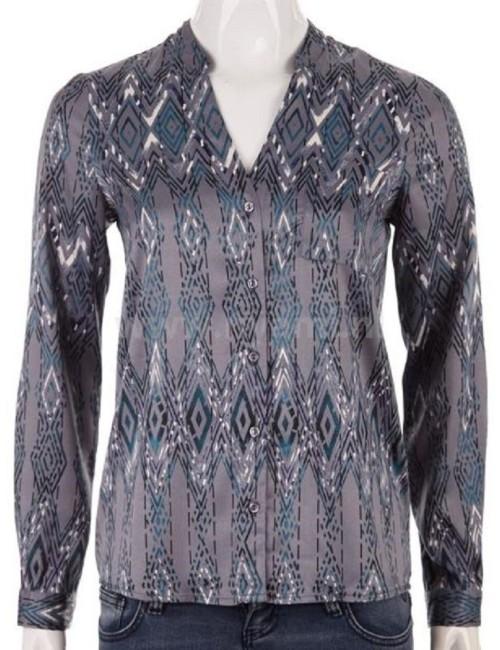 Camicia Blusa Donna Vero Moda in tessuto lucido Blu