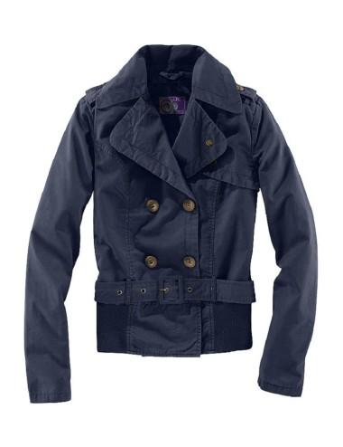 Giubbino donna giacca corta in stile trench viola