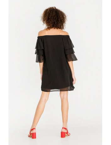 Vestito Donna Vero Moda Nero con Chiffon spalle scollate