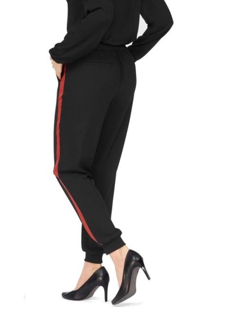 Pantalone Donna Nero Laura Scott elegante con riga laterale